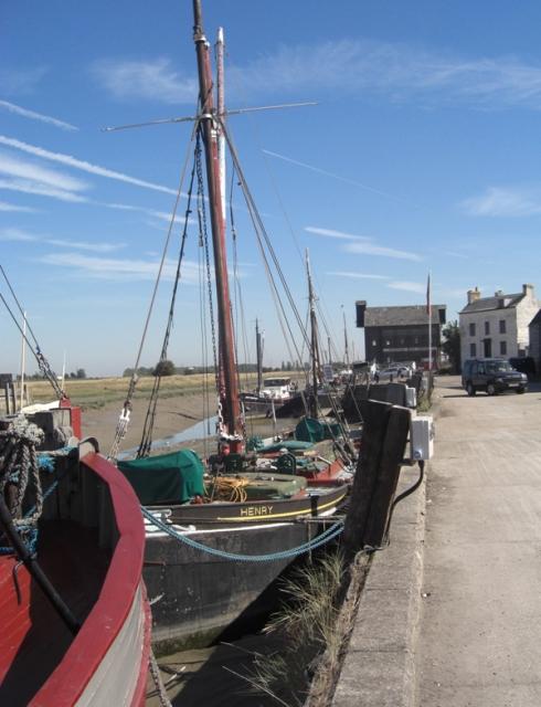 Thames Barge at the docks