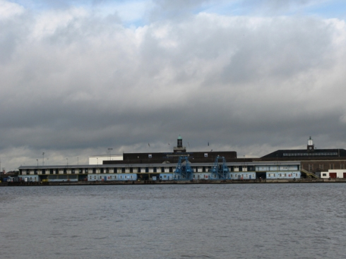 View of Tilbury from the ferry