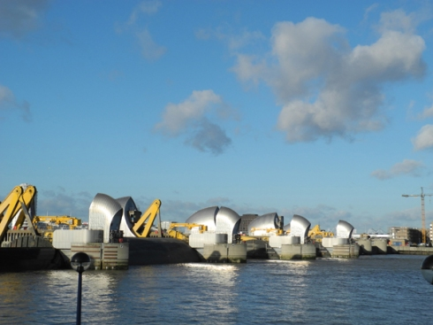 Thames Barrier gates rising
