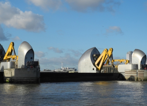 Thames Barrier gates up