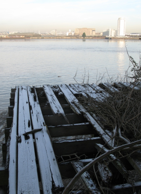 Frost on the Thames at Charlton