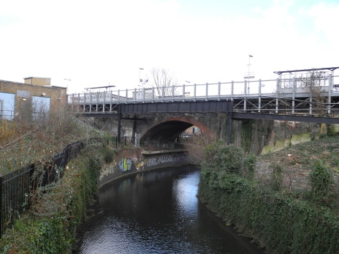 Confluence of Quaggy and Ravensborne at Lewisham