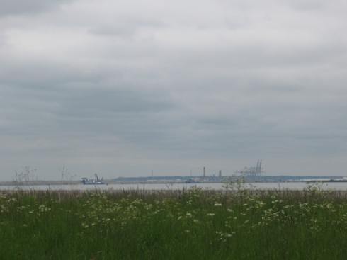 View of Thames Gateway from Coalhouse Fort