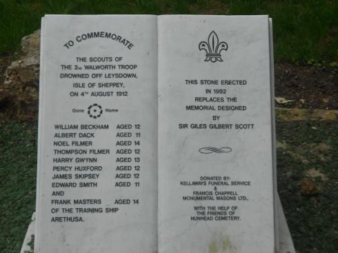 Leysdown Walworth Scout disaster