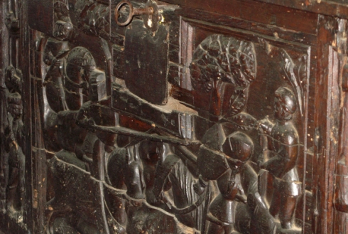 Detail from the muniment chest