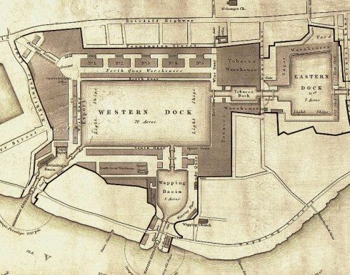 Plan of London Docks 1831