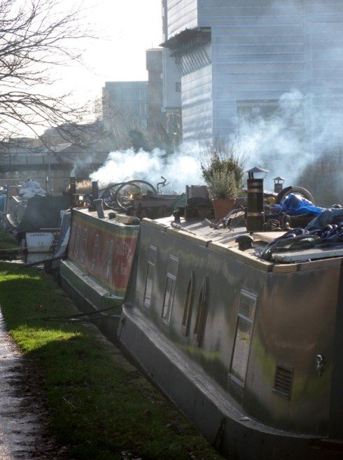 Canal Boats on Regents Canal