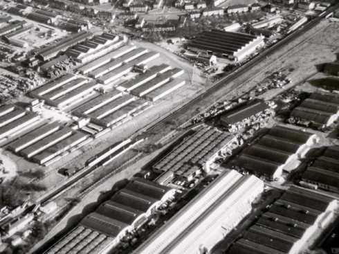 Aerial photo showing site of Kidbrooke