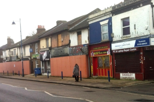 The blighted shops Lowfield St Dartford