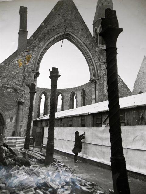The cast iron Solomnic columns - St Barnabas Church