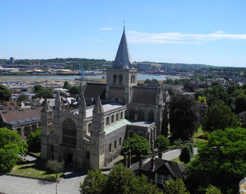 View of the Cathedral from Rochester Castle
