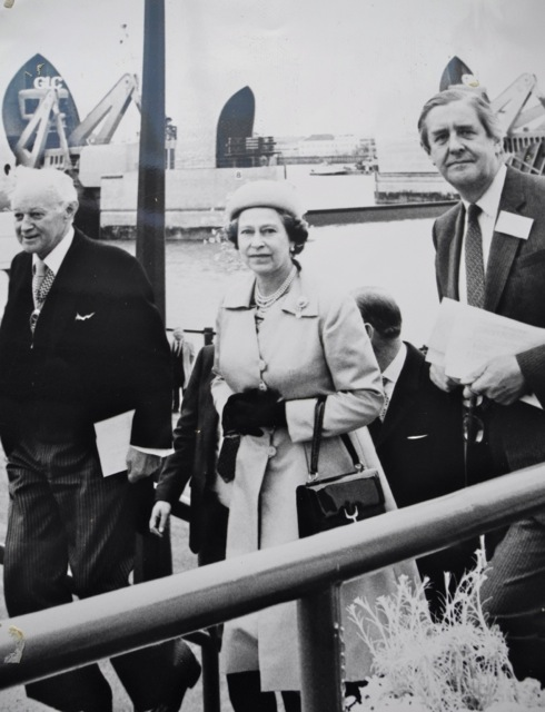 The Queen officially opens The Thames Barrier May 1984